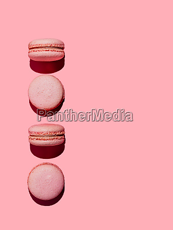 macarons on pink copy space hard