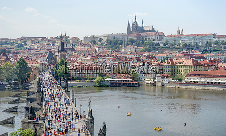 view over the vltava to the