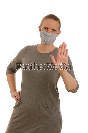 frau, mit, mundschutz, und, maske - 28231688