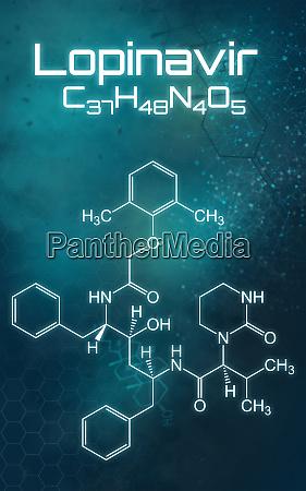 chemische formel von lopinavir auf einem