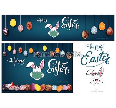 hanging colorful hand painted easter eggs