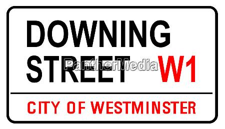 downing street zeichen