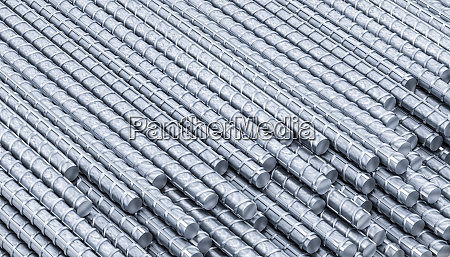 metal rods for building use background