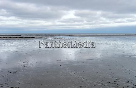 mud flat on the island of