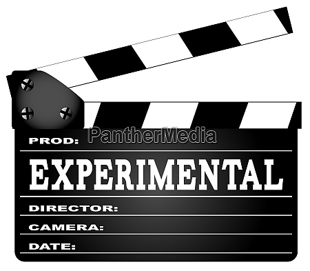 experimental movie clapperboard