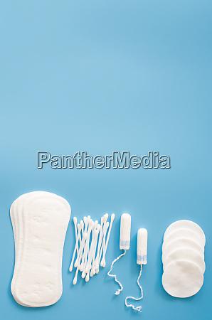 feminine hygiene accessoires konzept der weiblichen