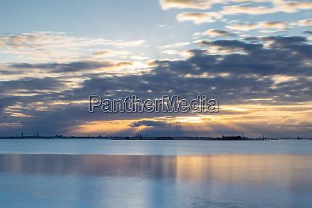 sunset in burano venice