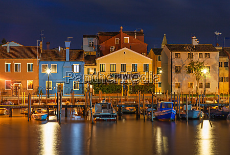 colorful houses in burano venice at