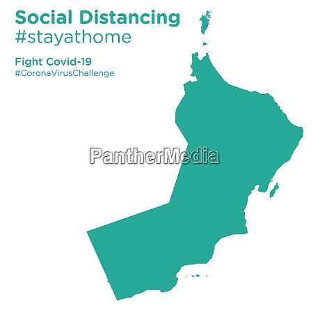 oman karte mit social distancing stayathome