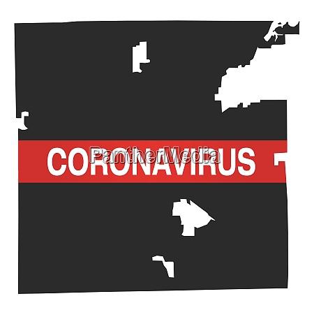 indianapolis indiana stadtplan mit coronavirus warnung