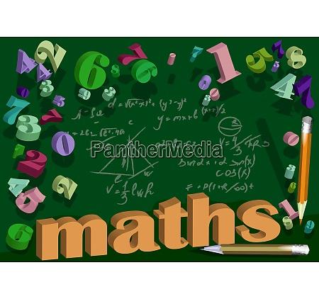 mathematische hintergrund mit zahl