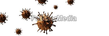 new coronavirus 2019 ncov 3d illustration