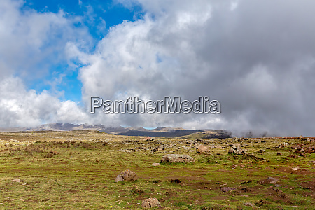schoene landschaft des bale mountain AEthiopien