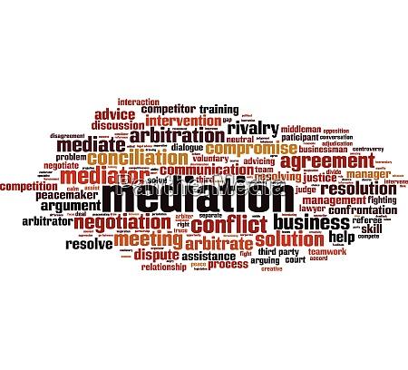 mediation wort wolke