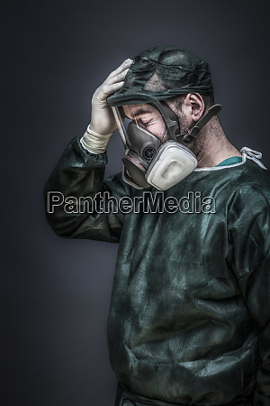 portrait of a doctor with protections