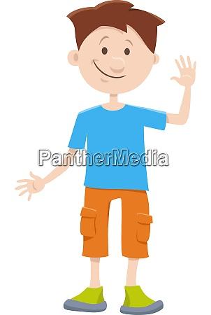 kind junge cartoon comic figur
