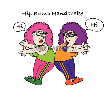 lustige hueftstoss handshake alternative