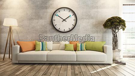 wohnzimmer oder salon innenarchitektur mit grosser