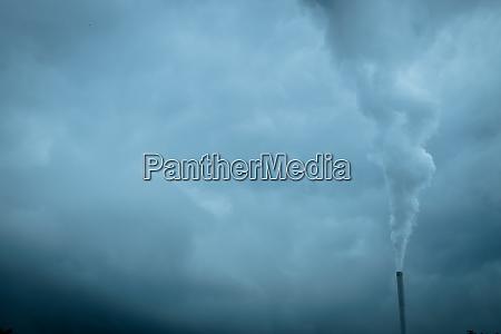 schornsteinrauch kohlendioxid co2
