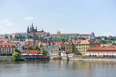 view over the vltava in prague