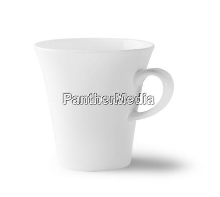 weisse leere tasse