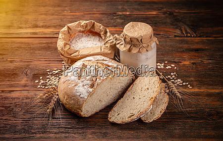 freshly backed sourdough bread