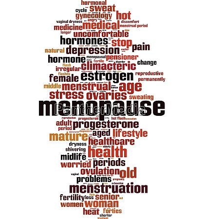 menopause wort wolke
