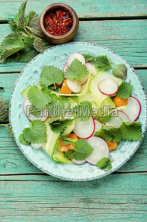 fresh nettle salad