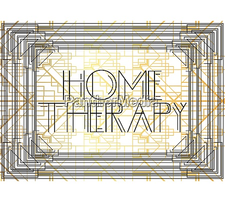 art deco home therapie text