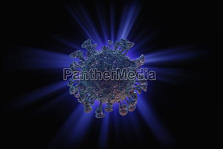 digital erzeugtes bild des coronavirus