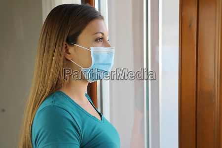 covid 19 pandemic coronavirus woman mask