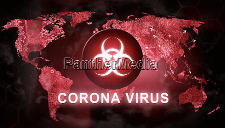 virus infection sign 3d medical illustration