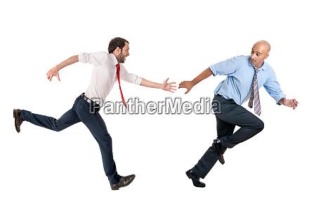 geschaeftsleute laufen