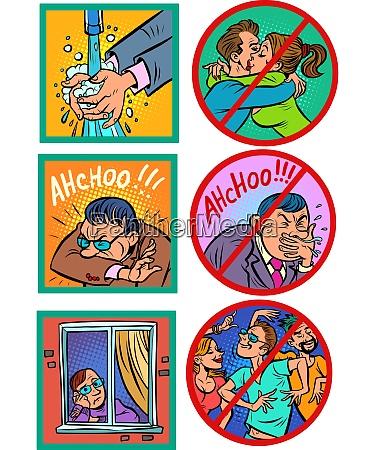 schutz und gesundheitsunterricht comics karikatur pop