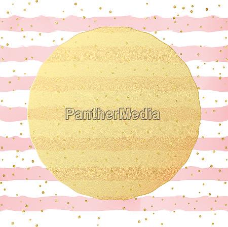 grusskarte vorlage gold glitzerfolie punkte konfetti