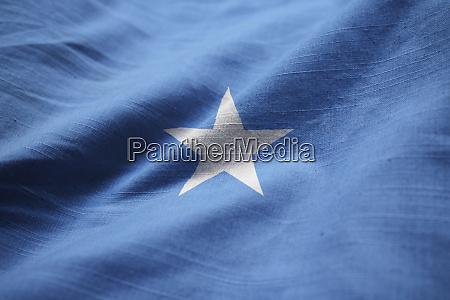nahaufnahme der gerafften somalia flagge somalia