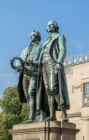 monument to goethe and schille