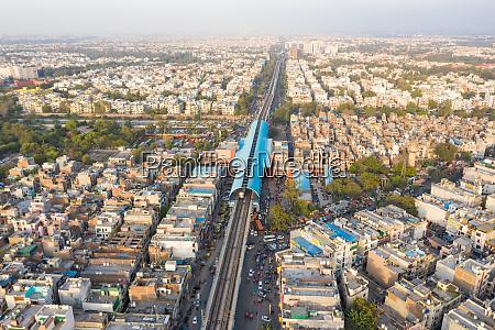luftaufnahme, des, öffentlichen, verkehrssystems, von, neu-delhi, das - 28326604