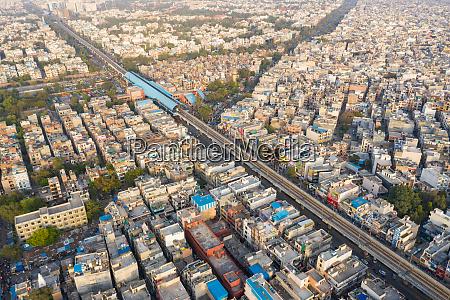 luftaufnahme, des, öffentlichen, verkehrssystems, von, neu-delhi, das - 28326605