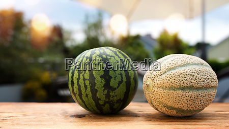 fresh melons in summer