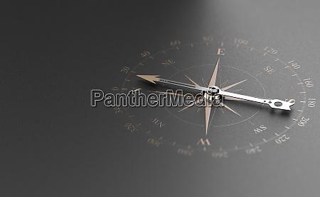 business guidance oder orientierungskonzept kompass ueber