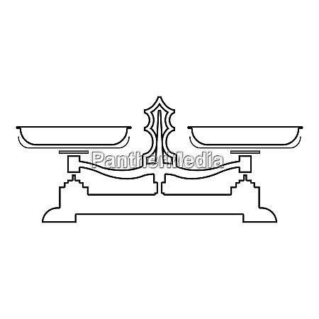 balancing waage speichern waage symbol umriss