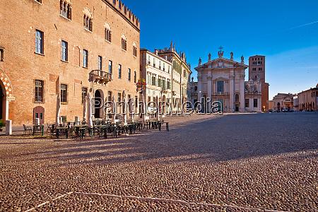 mantova city paved piazza sordello idyllic