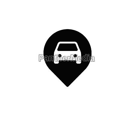 positionssymbolvektor pin zeichen navigationskarte gps richtung