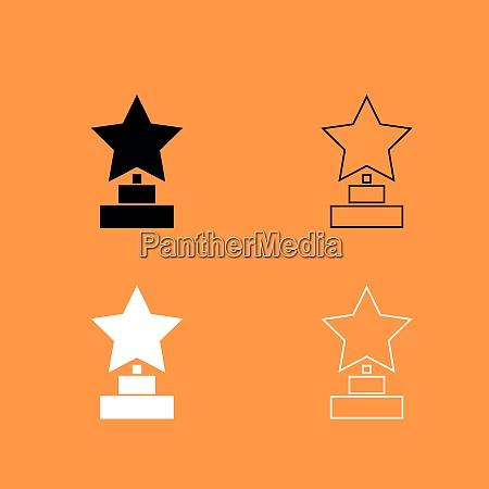 trophy star gewinner award schwarz und