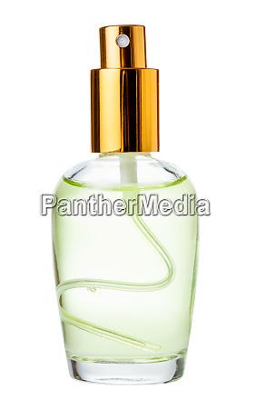 spray glasflasche mit parfuem isoliert auf