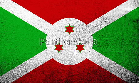 die republik burundi nationalflagge grunge hintergrund