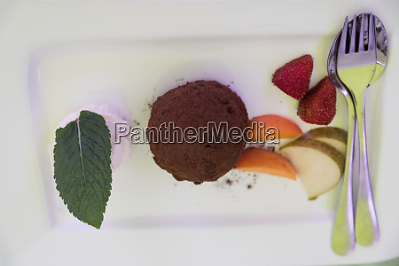 mousse delicate dessert