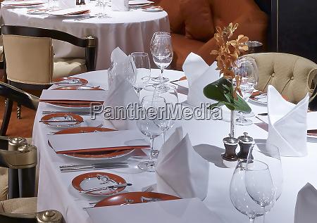 luxury interior with elegant table settings