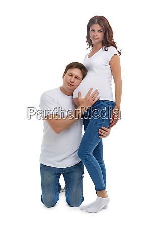 schwangere frau mit ehemann
